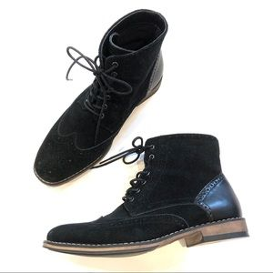 J75 by Jump Suede Lace Up wingtip boots